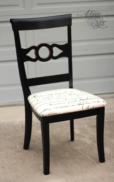 Repainted desk chair with gold and black