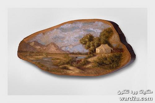 فن الرسم على الواح الخشب القديمه