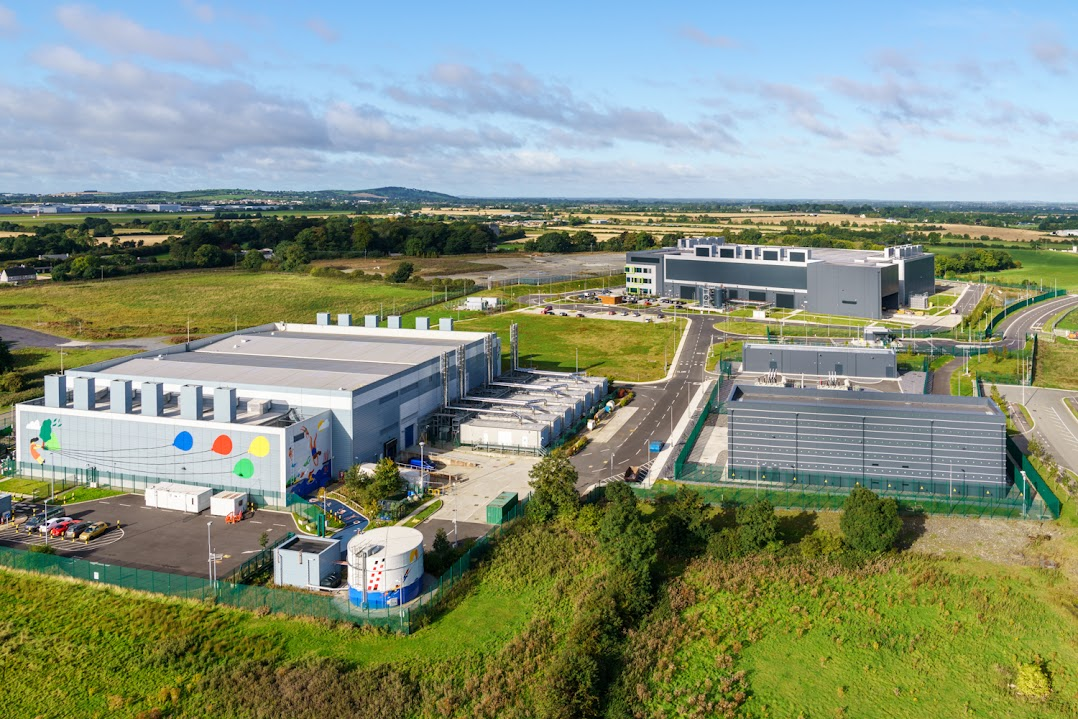 A European Google data center overhead shot