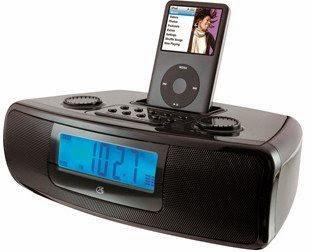 GPX CI3807B iPod Clock Radio - LCD - Dual Alarm - FM, AM