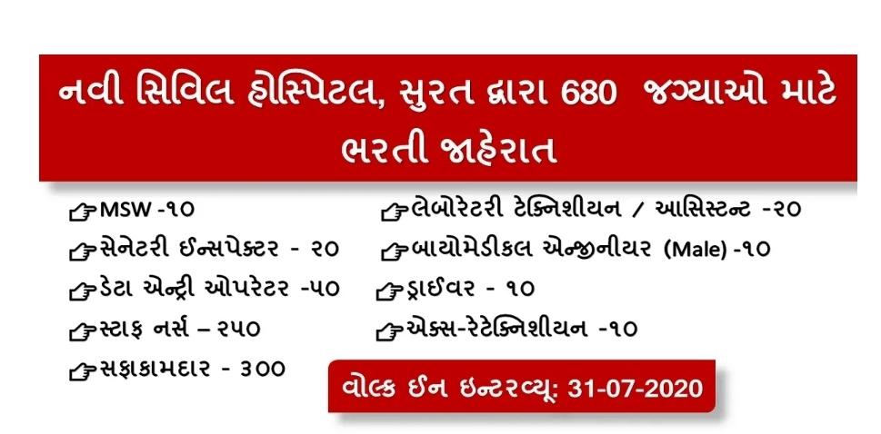 New Civil Hospital Surat Various Post 2020