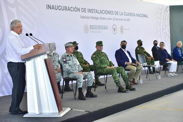 INAUGURA GUARDIA NACIONAL INSTALACIONES EN NUEVO LEÓN Y SUMA ESFUERZOS PARA BRINDAR SEGURIDAD A LA ENTIDAD
