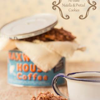 No-Bake Nutella and Pretzel Cookies