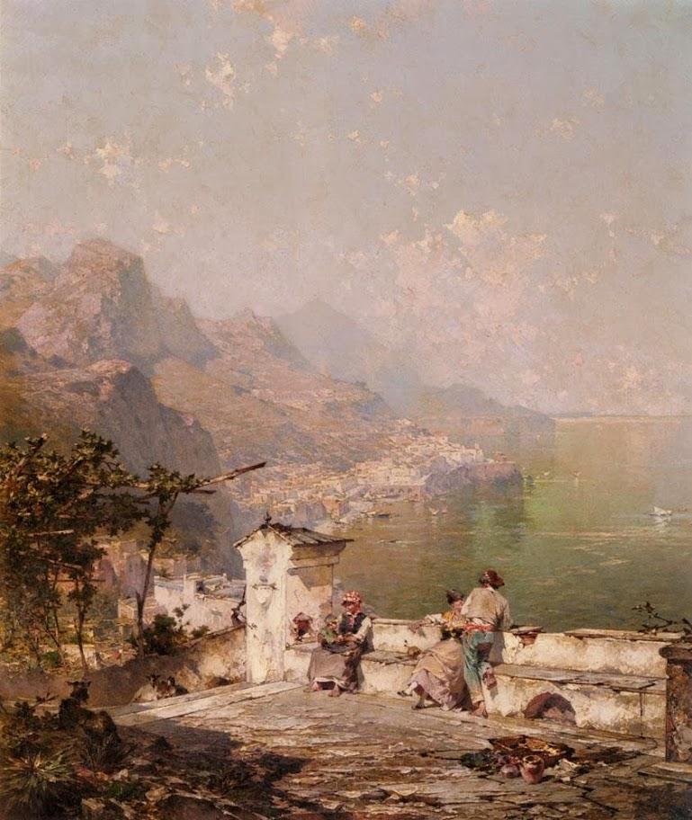 Franz Richard Unterberger - Amalfi, The Gulf Of Salerno