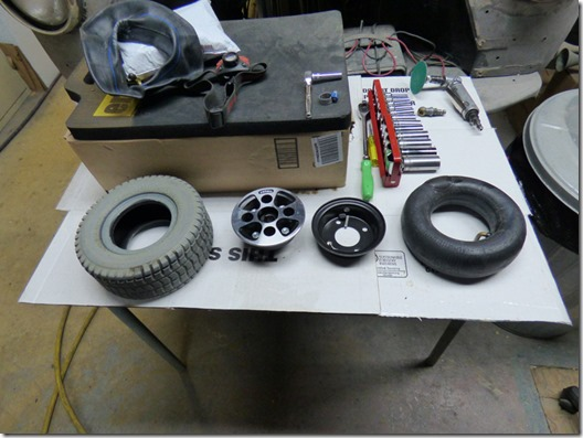 Hoveround wheel taken apart