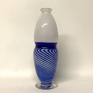 Church & Maple Art Glass Vase