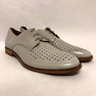 Paul Smith Perforated Oxfords in Putty