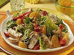 Polynesian Chicken Salad With Baby Spinach Recipe