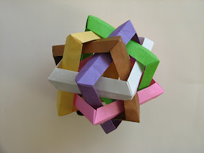 Six Intersecting Squares by Jorge Lucero at http://www.ulitka.net/origami/sis.pdf