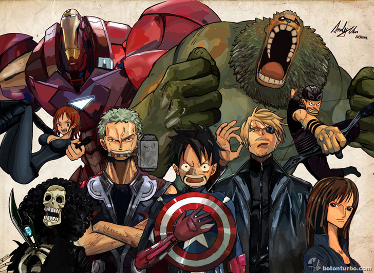 One Piece, los Vengadores (The Avengers)