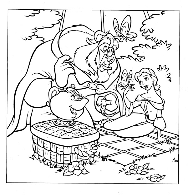 Disney Princess Belle Coloring Pages Eassume With Regard To The Elegant Disney  Belle Coloring