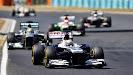 Pastor Maldonado racing his Williams FW35