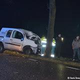 Eenzijdig ongeval met gewonde op Zuiderveen - Foto's Teunis Streunding