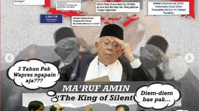 Telak! Maruf Amin The King of Silent, Julukan dari BEM UNNES: Diem-diem Bae Pak!