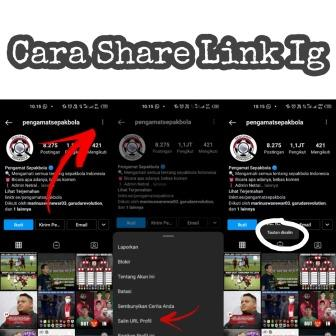 Cara Share Link Instagram