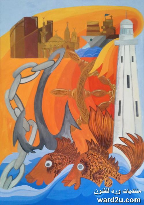 معرض اللوحات الورقية فى عيد بورسعيد القومى 2014