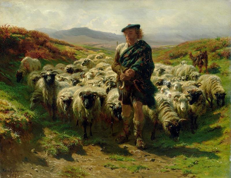 The Highland Shepherd by Rosa Bonheur, 1859