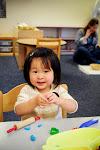 LePort Montessori Preschool Toddler Program Irvine San Marino - playing with clay