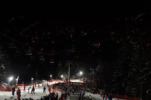 Slalom course and Chamonix
