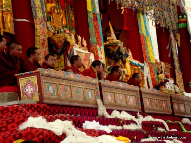 Massive religious gathering and enthronement of Dalai Lama's portrait in Lithang, Tibet. - l62.JPG