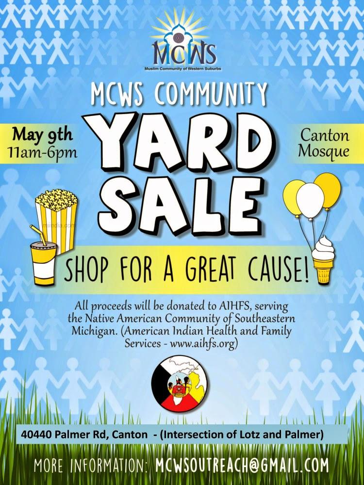 MCWS Community Yard Sale in Canton Detroit