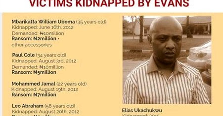 See List Of Victims Kidnapped By Evans And Identities Of His Gang Members