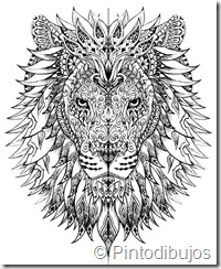 Mandala de León para Colorear