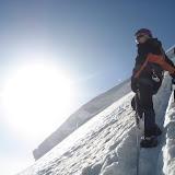 Fotos de Dôme de Neige des Écrins, vía normal da cara Norte polo Glacier Blanc.