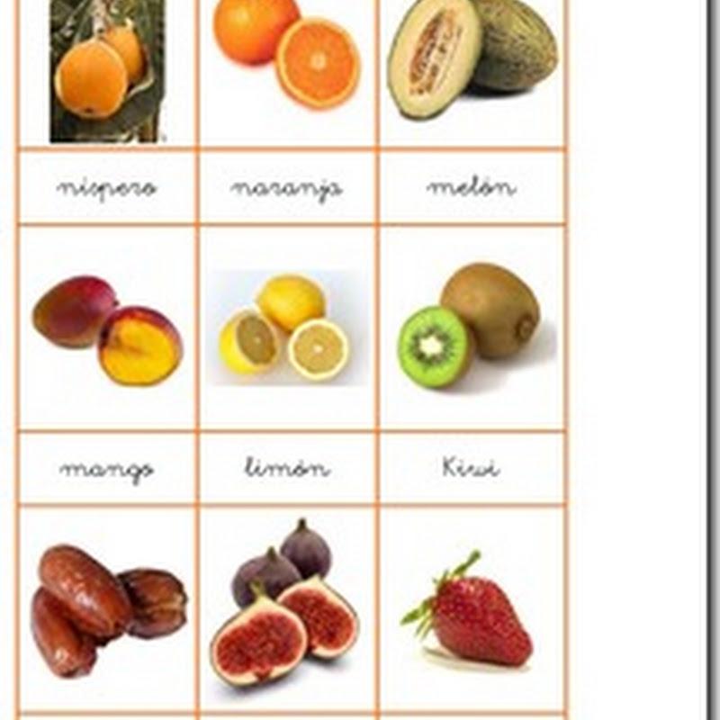 fichas color juego loto de frutas