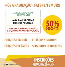 Escola de Gestão da FEMURN oferece descontos em especialização MBA