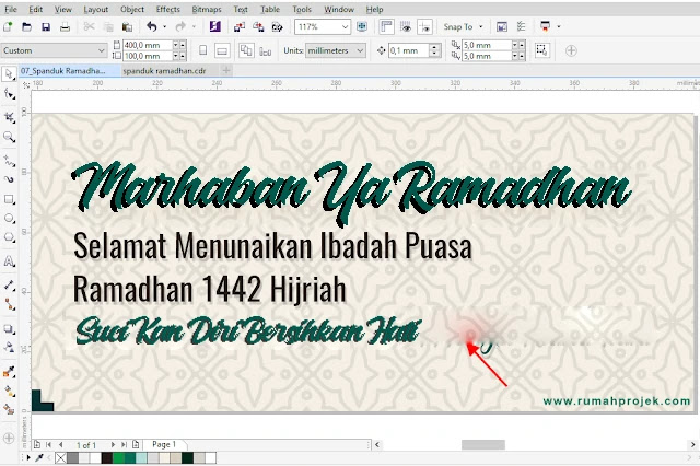 Download Template Banner Ramadhan CDR Gratis