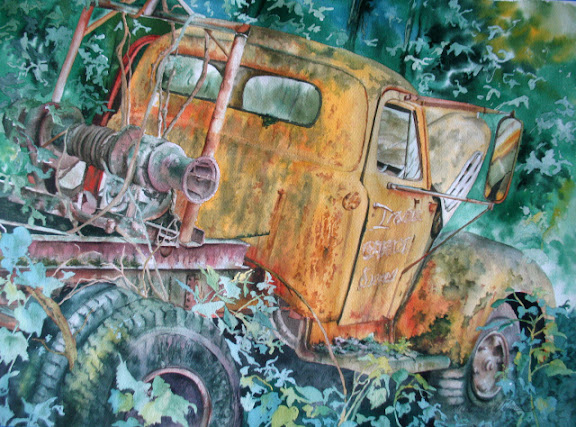 """""""Old Rusty"""" by artist Linda Wilmes."""