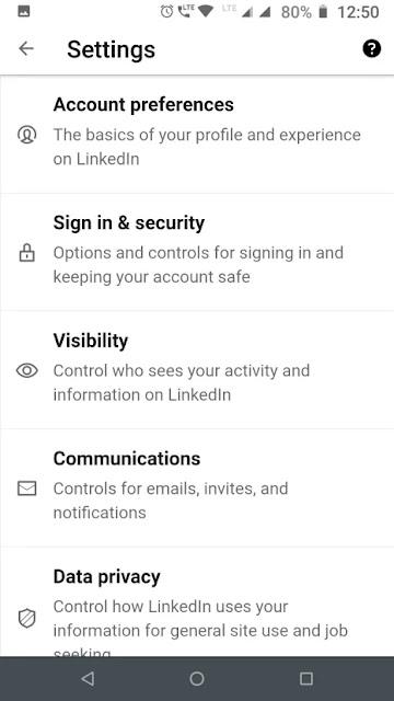 Activation Steps for LinkedIn Private Mode Mobile App