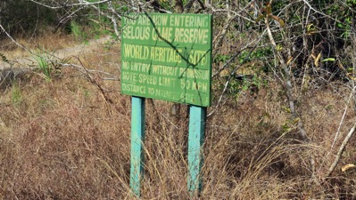Selous Entry Sign