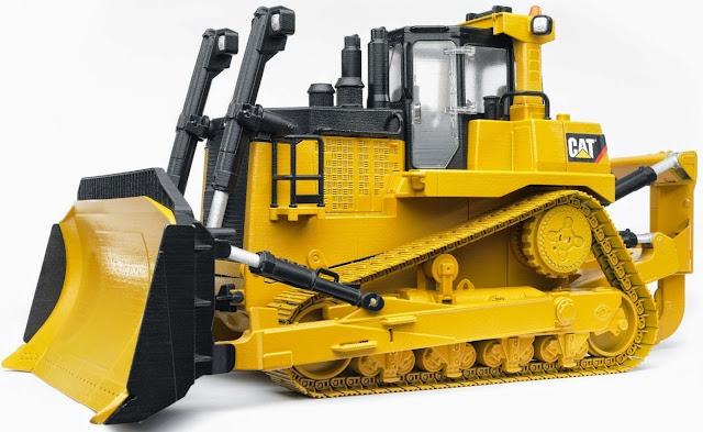 Chiếc Xe ủi loại lớn BRU02452 màu vàng