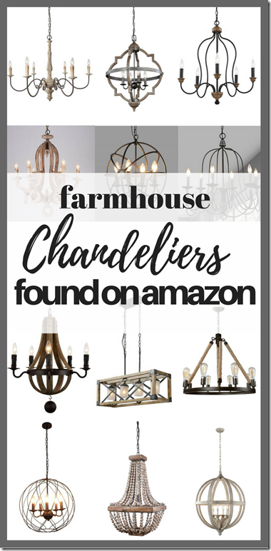 farmhouse style chandeliers found on Amazon, farmhouse, farmhouse style, cottage, cottage style, diyDesignFanatic.com