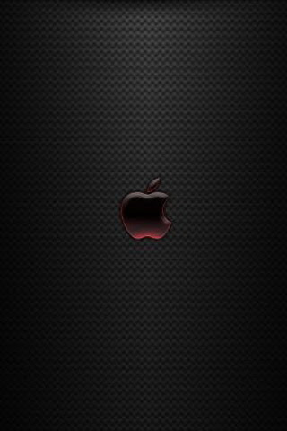 iPhone Background Red Apple Logo Wallpaper