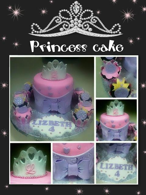 princess cake, tarta corona, crown cake , cupcakes