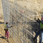 Setting up rebar for the basement walls