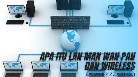 Apa itu LAN,MAN,WAN,PAN Dan Wireless