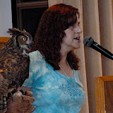 "Mary-Beth told the students that great-horned owls liked to eat skunks, drawing ""Ooohs"" of disgust."