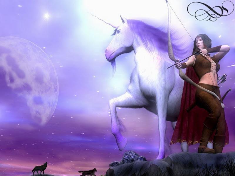 Unicorn And A Princess Warrior, Warriors