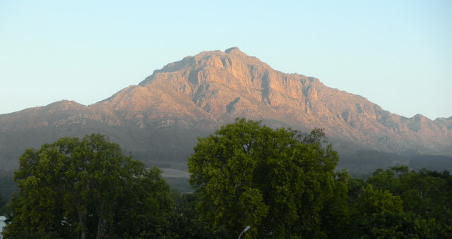 The sunset view from our B&B in Stellenbosche