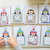 Penguin Themed Matching Clocks to Time