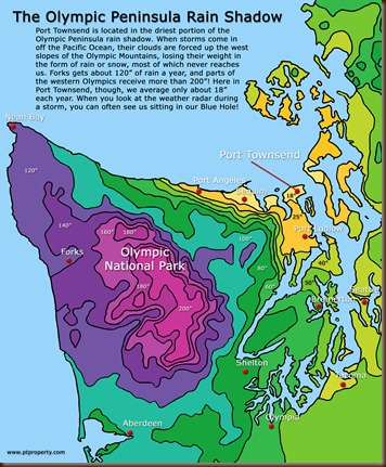 Olympic Peninsula rain shadow
