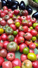 Portland Farmers Market at PSU, Tomatoes and Eggplants