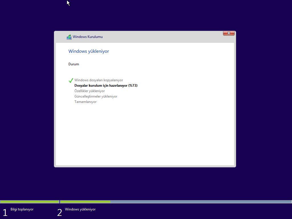 Windows 10 - Tüm Sürümler Tek DVD Türkçe (MSDN)