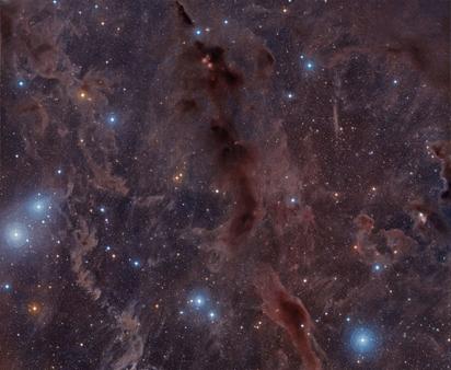 nebulosas escuras na constelação do Touro