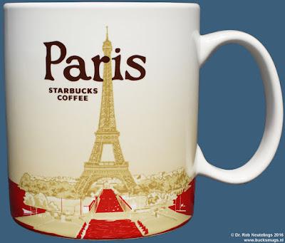 Paris Starbucks Coffee icon mug version 1 (front) France
