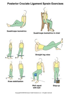 For physiotherapists posterior cruciate ligament sprain exercises